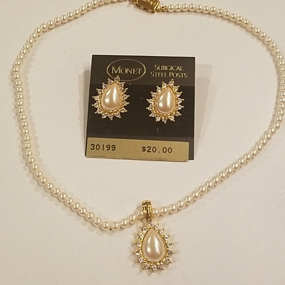 f97b23124b01a Monet pearl jewelry set NWT